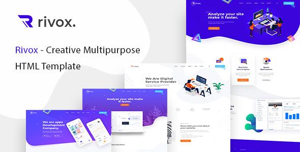Rivox - Creative Multi-Purpose HTML Template by valotheme