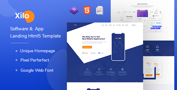 Xilo - Software &  App Landing Html 5 Template by FabioDesign_Lab