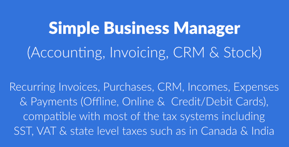 Simple Business Manager - Invoicing Solution