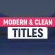 Modern & Clean Titles and Lower Third - VideoHive Item for Sale