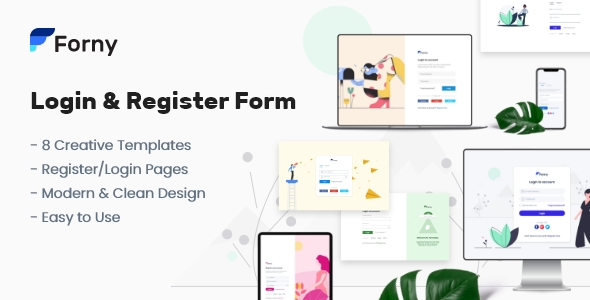 Forny - Login and Register Form Templates