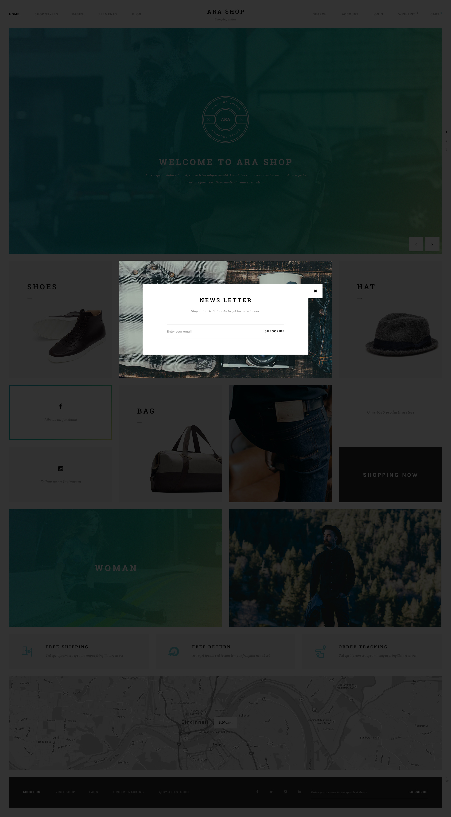 Ara Fashion Store Multipurpose Psd Template