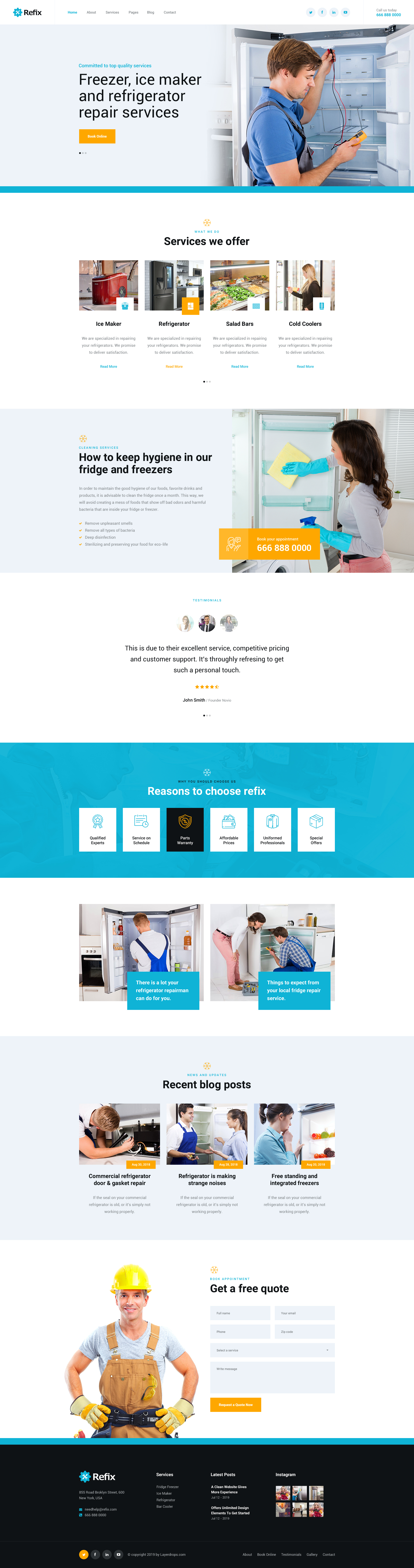 Refix - Fridge & Freezer Repair Company PSD Template