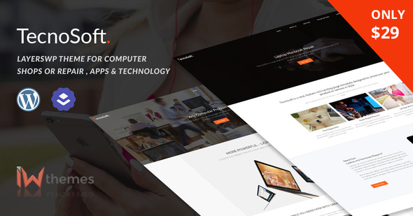 13db190bde0ec4 Computer & Phone Repair, Technology WordPress theme | TecnoSoft by iwthemes