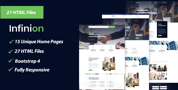 Marvelous Infinion - Business, Agency, Corporate, Consulting HTML Template
