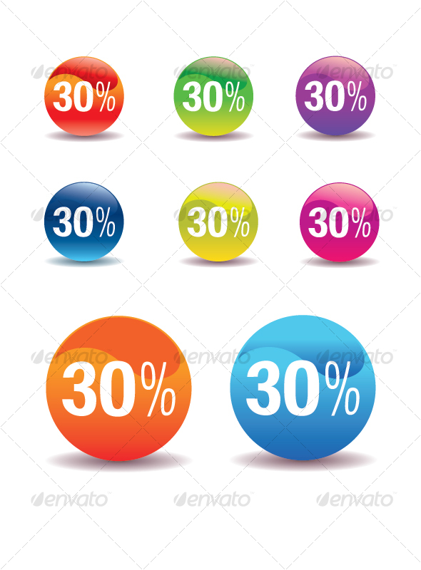 Colorful SALE Stickers - VECTOR - Miscellaneous Vectors