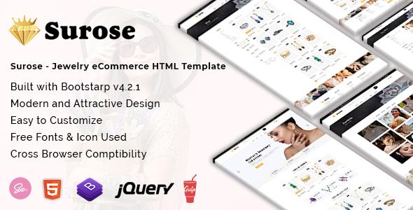 Surose - Jewelry eCommerce HTML Template