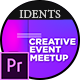 Creative Event Meetup Ident MOGRT - VideoHive Item for Sale