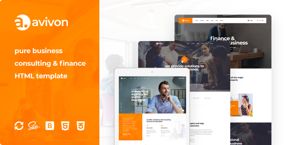 Avivon - Pure Business Consulting & Finance HTML5 Template