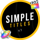 Simple Design Titles | FCPX - VideoHive Item for Sale