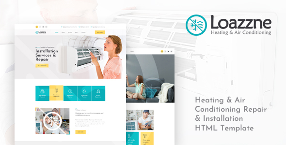 Loazzne - Heating & Air Conditioning Services HTML Template