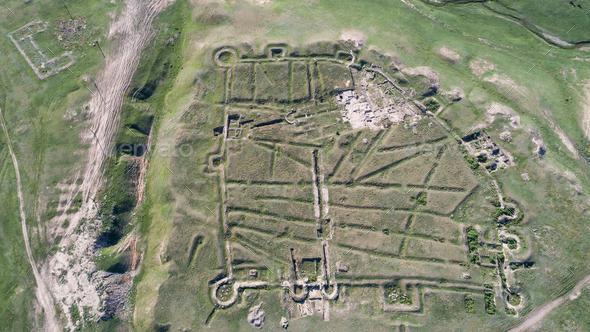 Ulmetum fortress ruins, Romania - Stock Photo - Images