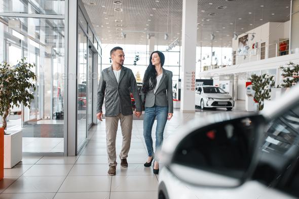 Happy Auto Sales >> Happy Couple Buying New Car In Showroom