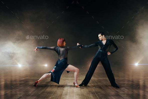 Elegant dancers, latin ballrom dance on stage - Stock Photo - Images