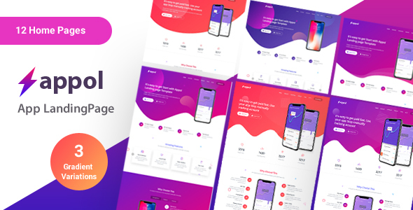 Appol - Landing Page For App