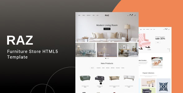 Raz - Furniture Store HTML5 Template by BootXperts
