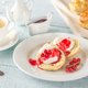 Classic scones with cream and berry jam - PhotoDune Item for Sale