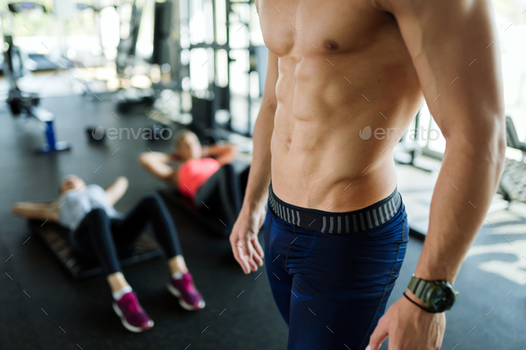 Picture of strong man's sexy muscular body - Stock Photo - Images