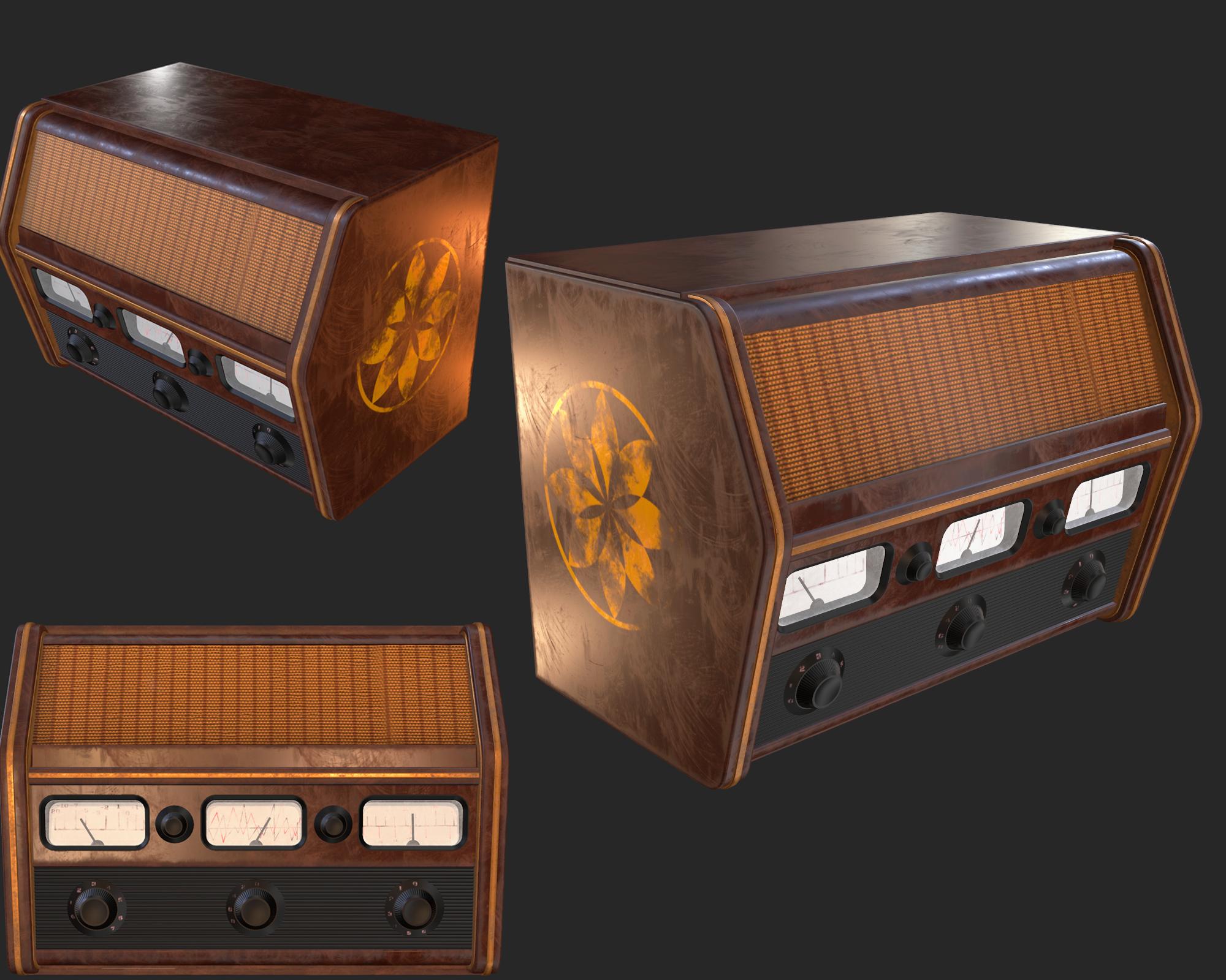Old Antique Radio PBR