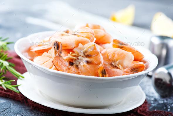 boiled shrimps - Stock Photo - Images