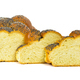Sliced challah bread on white background - PhotoDune Item for Sale