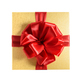Top view golden gift box with red ribbon. Isolated on a white background - PhotoDune Item for Sale