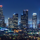 Downtown Los Angeles skyline at night - PhotoDune Item for Sale