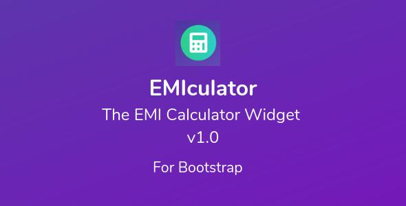 EMIculator - The EMI Calculator Widget