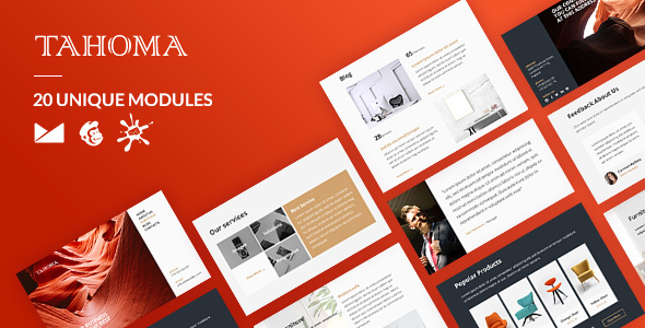 Tahoma Email-Template + Online Builder