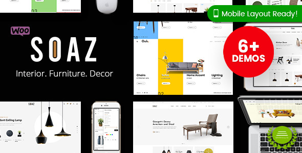 Soaz - Furniture Store WordPress WooCommerce Theme (Mobile Layout Ready)