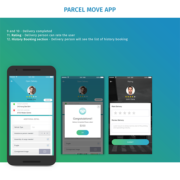 Parcel Move Full Application for Android