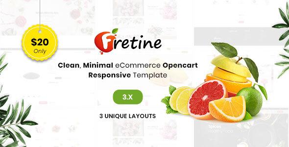 Fretine Organic Store - Responsive OpenCart 3.0 Theme