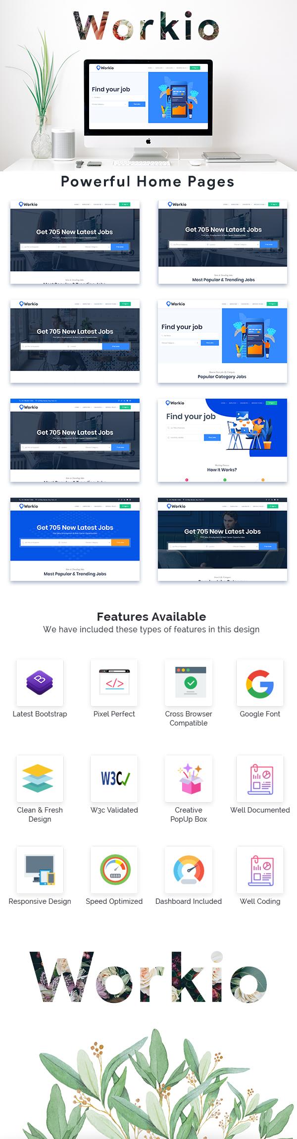 ThemeForest Codecanyon - Workio - Job Board HTML Template