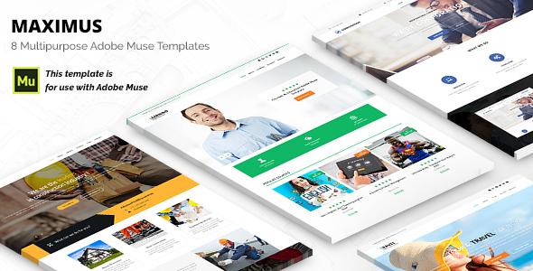 Maximus | Responsive Multi-Purpose Adobe Muse Template