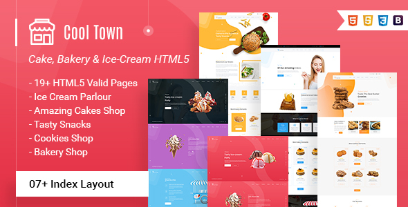 Cool Town | Ice Cream Bakery HTML5 Template by webstrot