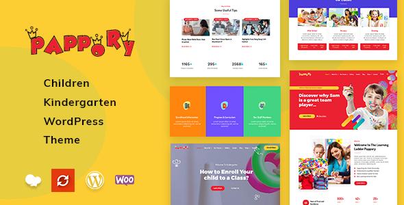 Pappory - Children Kindergarten WordPress Theme