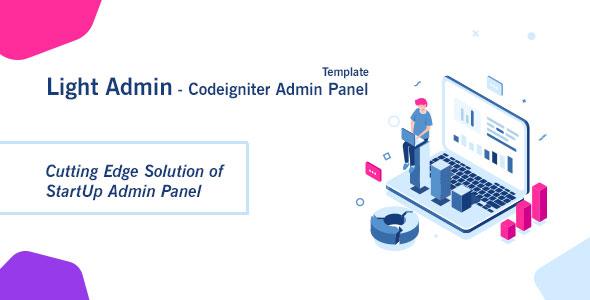 CI StartUp Admin Panel Template + Login Auth