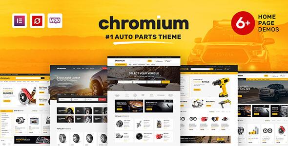 Chromium - Auto Parts Shop WordPress WooCommerce Theme