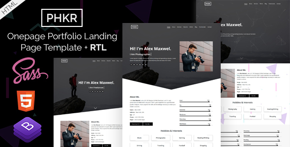 Phkr - Black and White Portfolio HTML Template by EnvyTheme