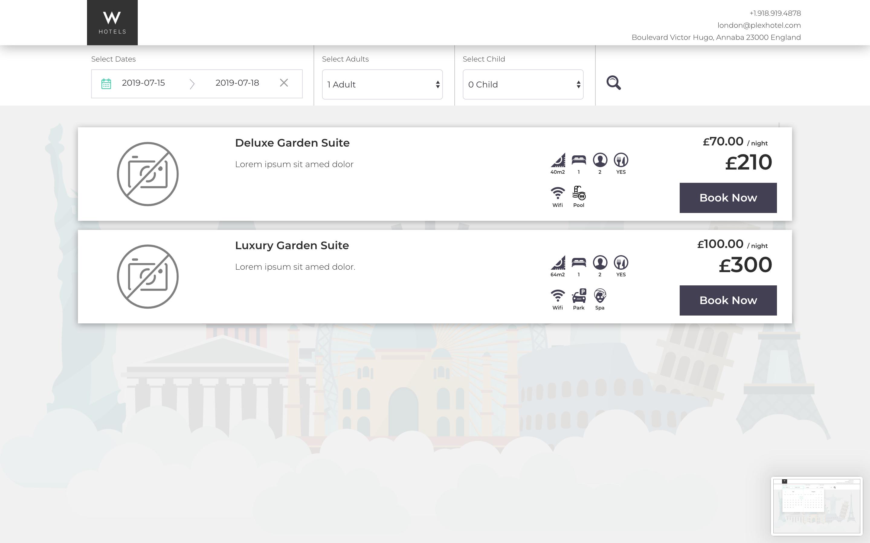 Plex Hotel - Booking and CMS Plugin