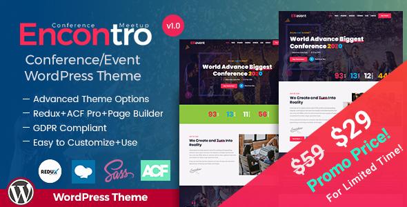 Encontro - Conference & Meetup Event WordPress Theme