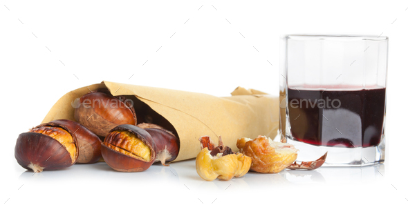 Roasted chestnuts - Stock Photo - Images