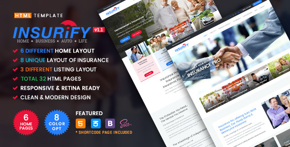 Insurify - Ultimate Template for Insurance Agency