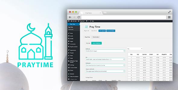 PrayTimes - Islamic Prayer Time WordPress Plugin