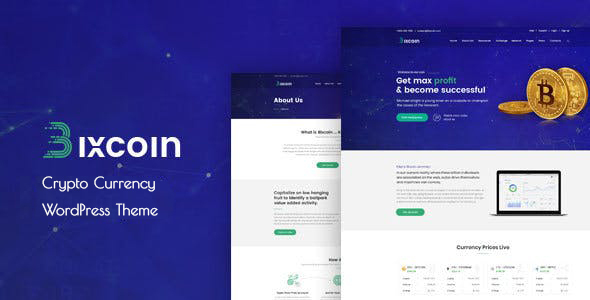 Bixcoin : WordPress theme for Cryptocurrency