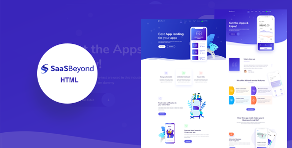 Extraordinary SassBeyond - Sass & Software Landing Page Template