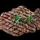 grilled beef steak meat on black background - PhotoDune Item for Sale