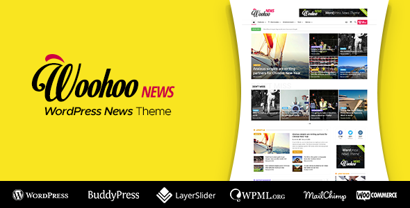 Woohoo is a smart, intuitive and responsive Wordpress news and magazine multi-concept website theme