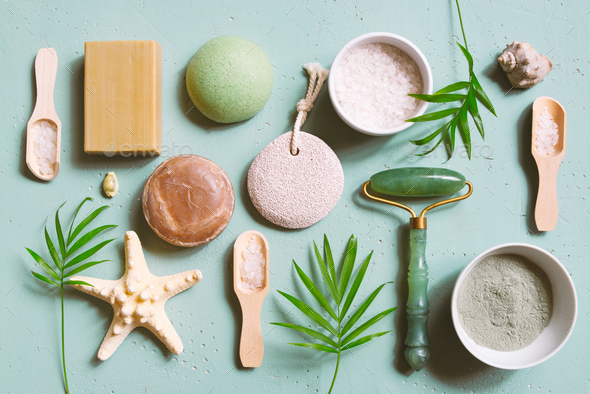 Natural Skincare Products And Tools Stock Photo By Alinakho Photodune