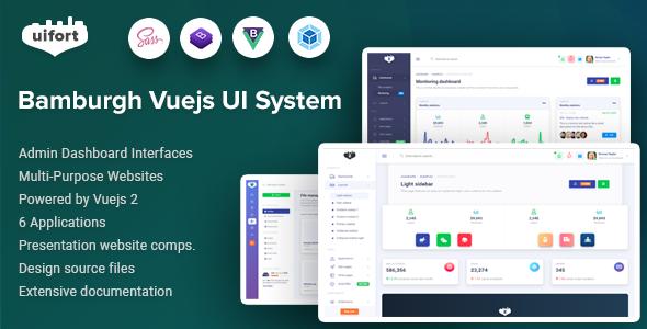 Awesome Bamburgh - Vuejs Admin Dashboard & UI Kit & Multi-Purpose Websites Template
